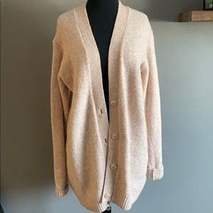 Soft light pink cardigan